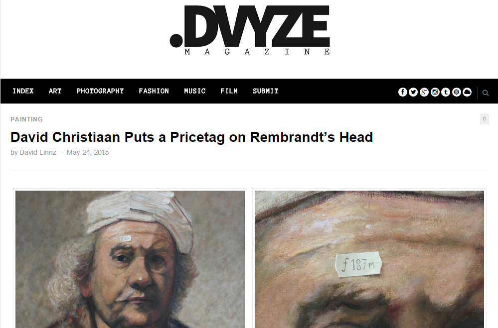 David Christiaan Puts a Pricetag on Rembrandt's Head