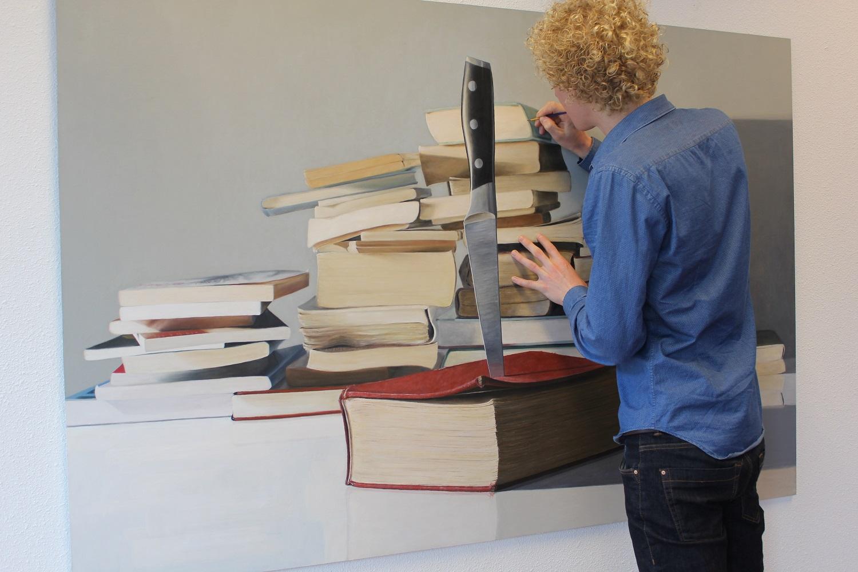writers boeken kunst artwork books knife the power of words